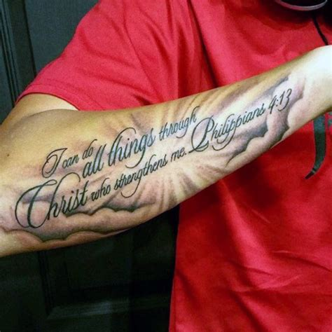 bible verse tattoo for men 40 philippians 4 13 designs for bible verse ideas