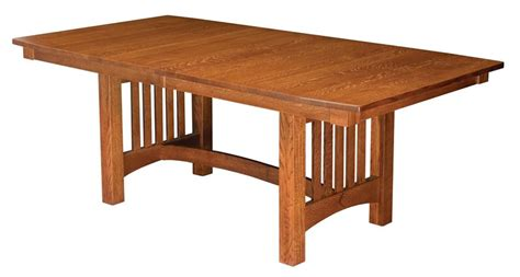mission style dining room table mission style trestle dining table