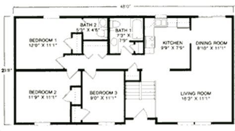 house plans with basement 24 x 44 raised ranch style homes available from building blocks llc