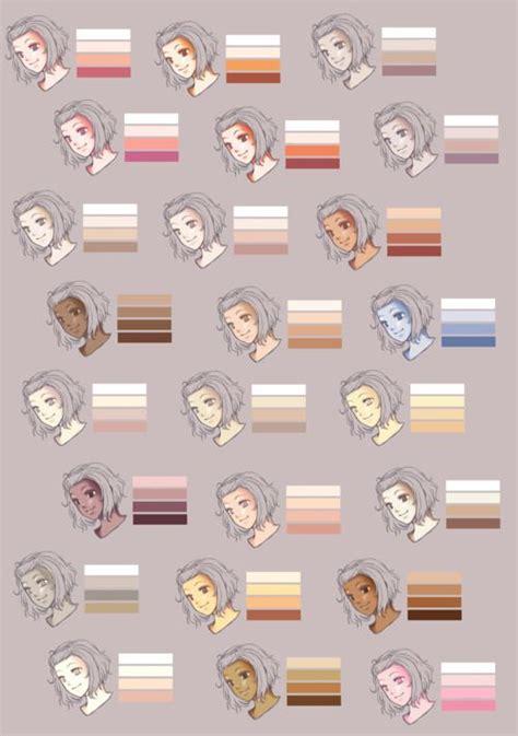 skin color palette skin color palette from rueme color palettes misc