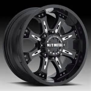 Truck Wheels Mickey Thompson Mickey Thompson Metal Series Mm164b Black Custom Wheels