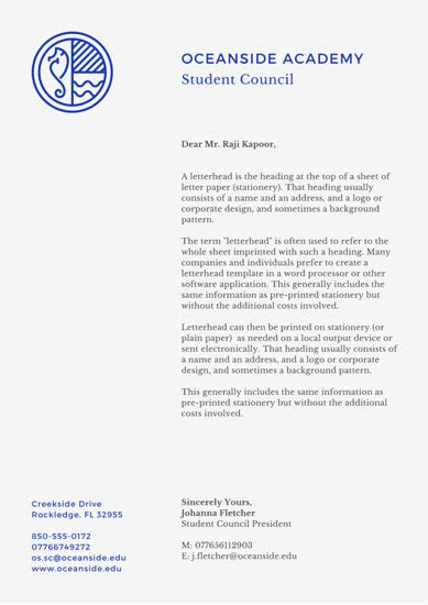 College Student Letterhead business letterhead templates canva