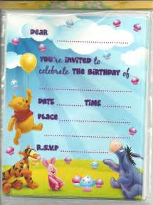winnie the pooh birthday invitations gangcraft net