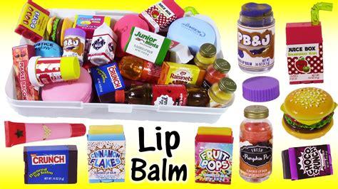 Food Balm more new lip balms glosses cereal food flavors pb j jar review lip balm storage