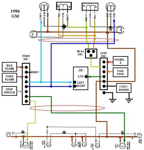 86 k10 exterior light wiring diagram truck forum