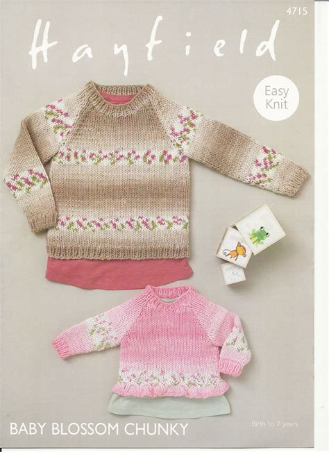 hayfield knitting patterns for babies hayfield babies sweaters knitting pattern in baby blossom