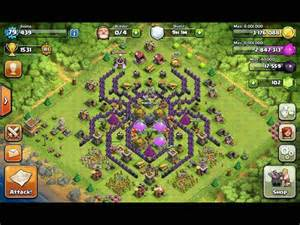 Design spider base town hall 8 wallpaper clash of clans