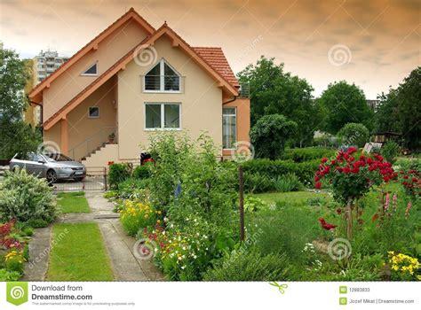house with the garden stock photos image 12883833