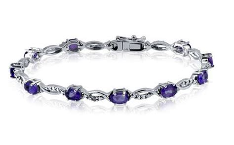 Blue Diamond Internet Sweepstakes - genuine gemstone accent genuine white diamond bracelet in sterling silver citrine