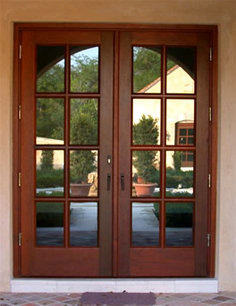 Front Doors For Homes With Glass Wood French Doors Wood Glass Exterior Doors