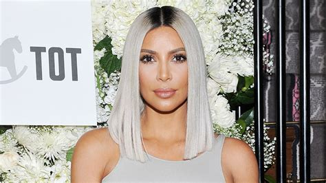 keeping up with the kardashians kim blonde is full time kim kardashian debuts new icy blue hair color stylecaster