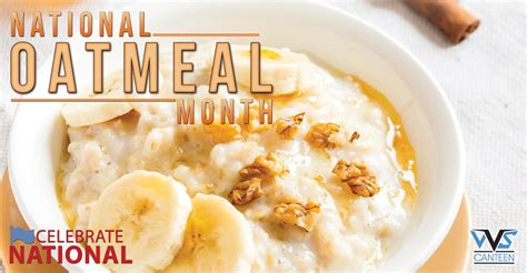 national month january is national oatmeal month vvs canteen