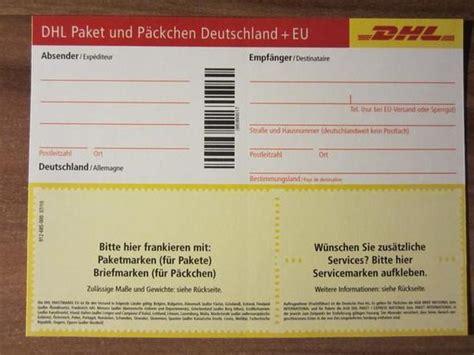 Paketaufkleber Drucken Vorlage by Dhl Paketschein Paketmarke Post Paket