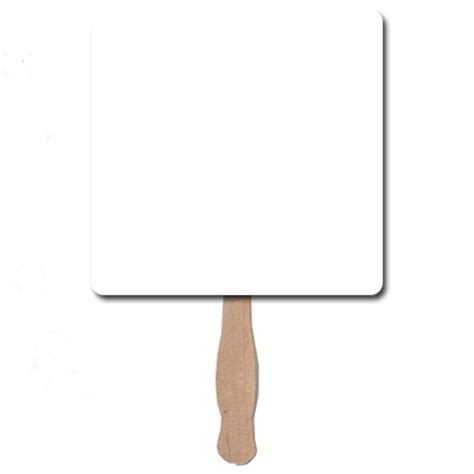 square blank sandwiched hand fans