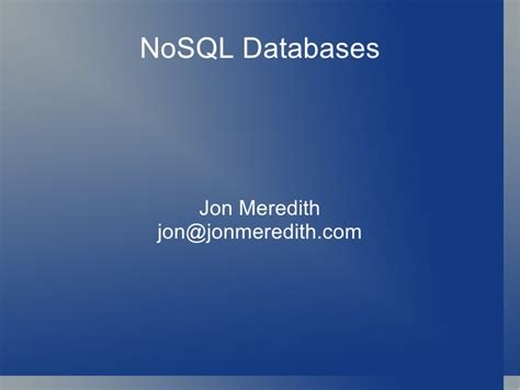 tutorial nosql php front range php nosql databases