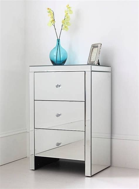 mirrored bedside table large mirrored bedside table