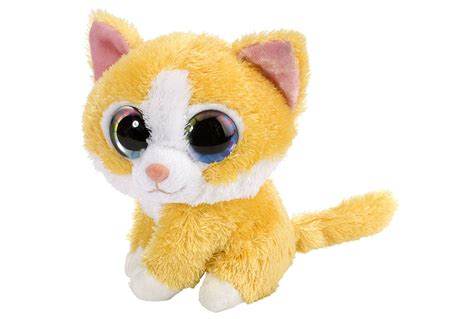 colorful orange tabby cat stuffed animal plush cat