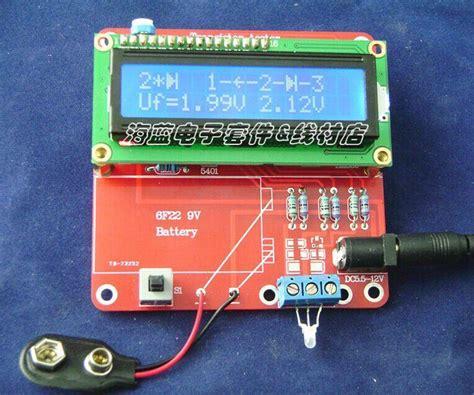 capacitor resistor inductor transistor diy kit 2014 new transistor tester capacitor esr inductance resistor meter npn pnp mosfet free