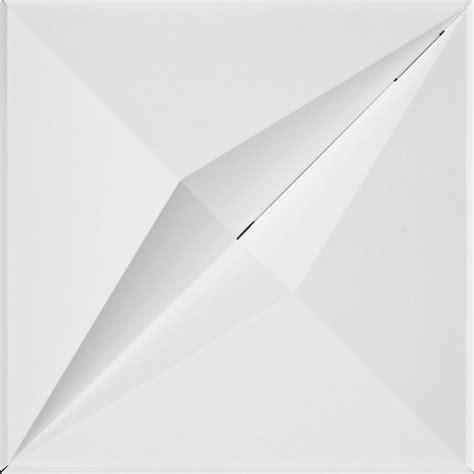 mio foldscapes crystal drop ceiling tile white 24 tile