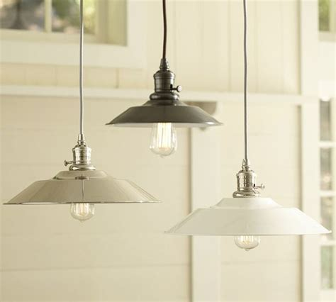 pottery barn kitchen lighting pb classic pendant metal flared industrial pendant