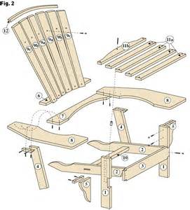 plan pour fabriquer une chaise adirondack project wood work
