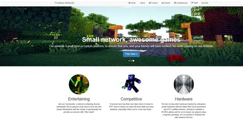 Web Template Wip Prodetus Updated Spigotmc High Performance Minecraft Minecraft Website Template