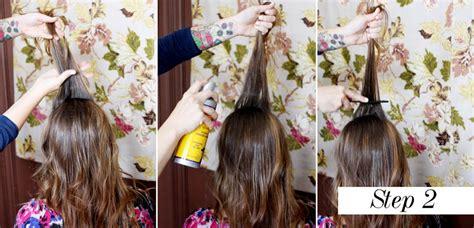 Pelurus Rambut Vanestrix Step 1 Step 2 diy tutorial create a 1960s inspired beehive hair style 183 rock n roll