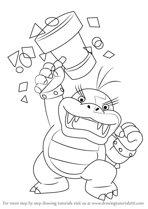 mario koopalings coloring pages learn how to draw morton koopa jr from koopalings