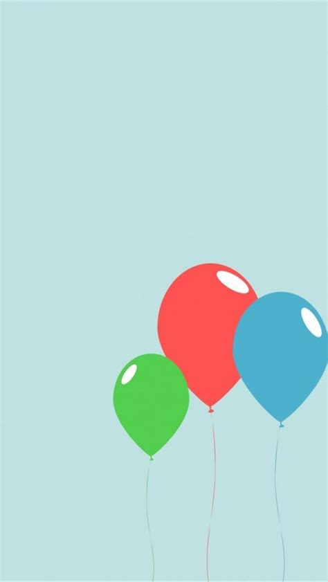 free cute color balloons backgrounds for iphone 5 640x1136