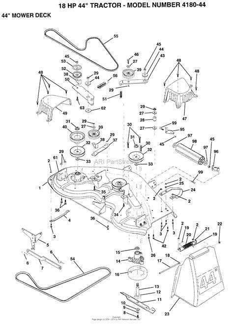 44 parts diagram ayp electrolux 4180 44 1994 parts diagram for 44 quot mower deck