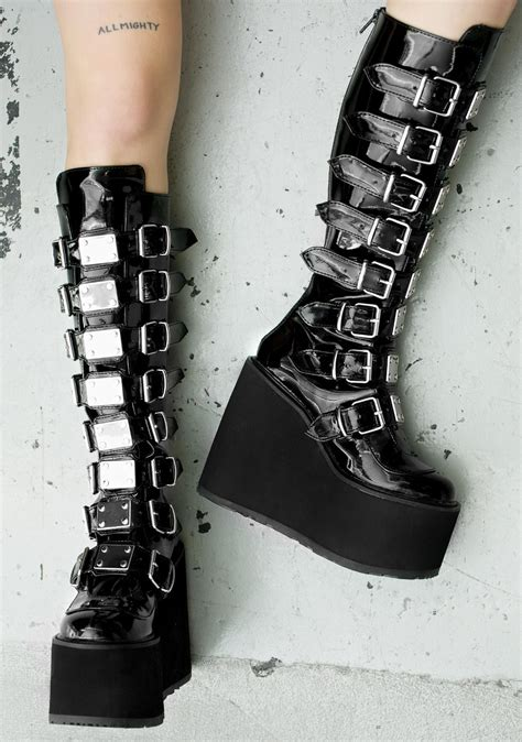 demonia boots for demonia patent boots dolls kill