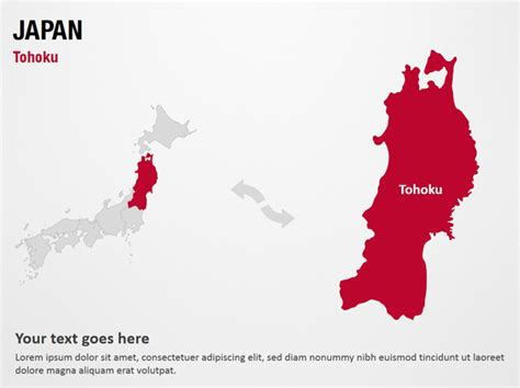 templates powerpoint japan tohoku japan powerpoint map slides tohoku japan map
