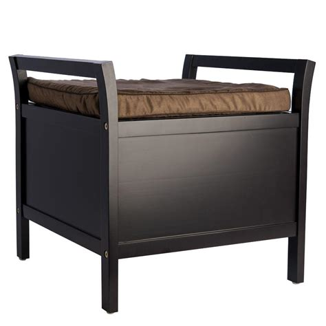 storage bench with seat elegant home fashions elegant storage bench with foam pad