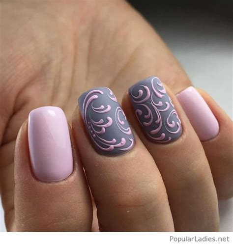 how to do matte gel nails pink and grey gel nails on matte
