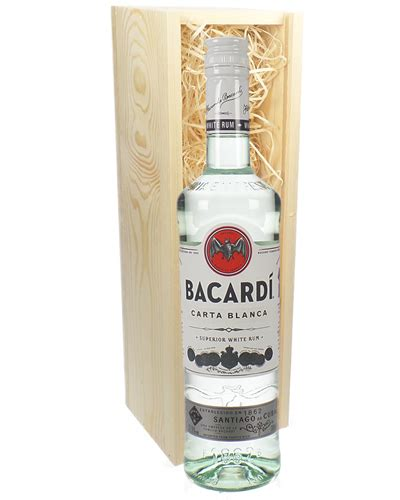 Code Bacardi Bottle White bacardi rum gift next day delivery