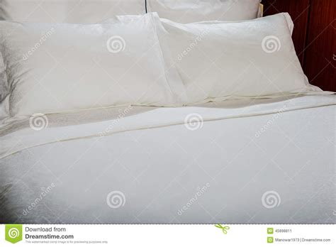 Pillows And Sheets by White Bed Sheets And Pillows Stock Photo Image 45898811