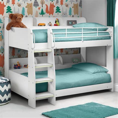 White Loft Bed by Julian Bowen Domino White Wooden Bunk Bed