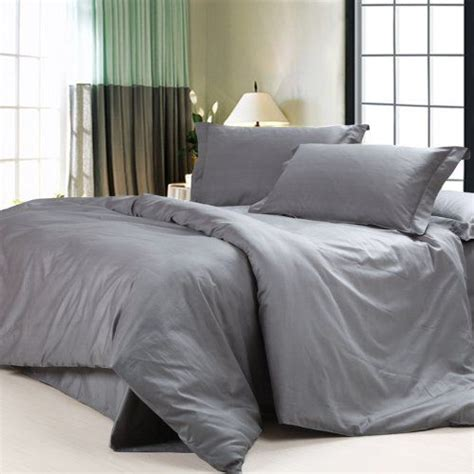 Grey Bedspread Diaidi Solid Grey Bedding Sets Luxury Grey Comforter