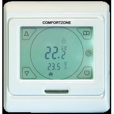 comfort zone thermostat comfortzone touch screen thermostat white 8259 comfort