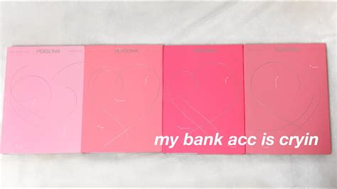 bts map   soul persona album unboxing youtube