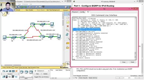 packet tracer tutorial router ipv6 configuration youtube 6 4 3 4 7 4 3 4 packet tracer configuring basic eigrp