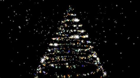 sparkling christmas tree on black background hd youtube