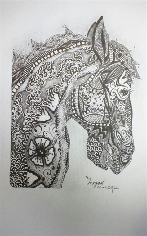 zentangle pattern horse free coloring pages of zentangle lion