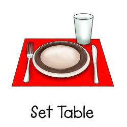 set table kid set table clipart clipartsgram com