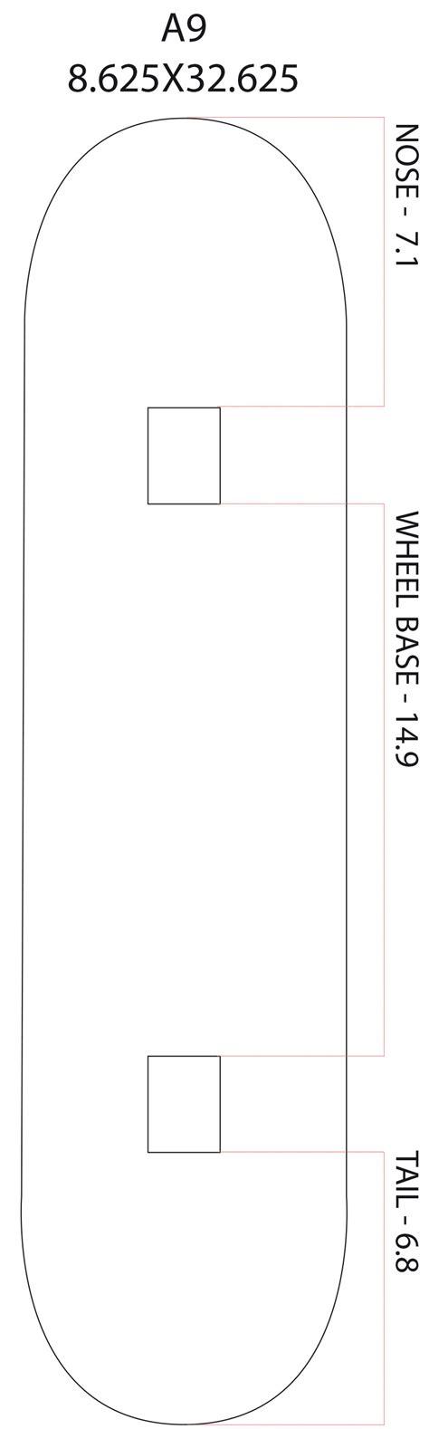 Tshirt A9 Best Product skateboard shape with artprint manufacturer
