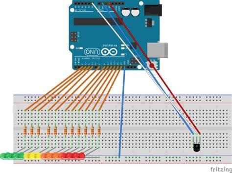 led resistor temperature arduino temperature led bar