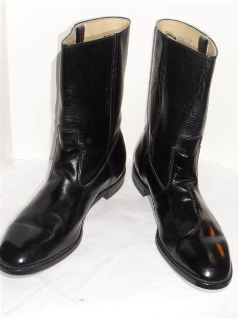 black motorcycle shoes vintage 1970s sears black leather men s motorcycle boots