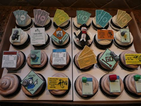 cupcake themed party games monopoly cupcakes for a couple who met playing monopoly