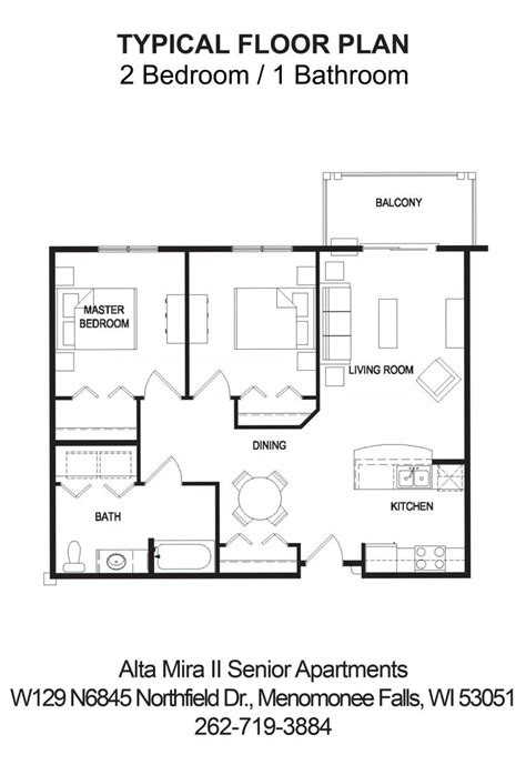 Sweet Home Floor Plan by Sweet Home Senior Apartments Floor Plans