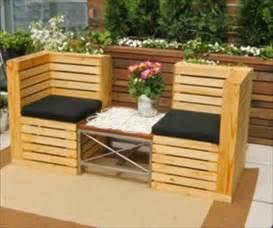 patio bench diy pallet patio bench ideas 99 pallets